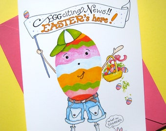 Easter Egg Card - Happy Easter Card, Easter Cards, Pun Card, Egg Card, Cute Easter Card
