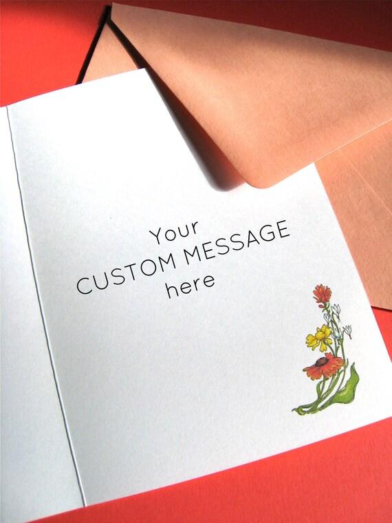 Girlfriend Birthday Wildflowers Card Friendship Quote Card Friend Thank You Best Friend Card