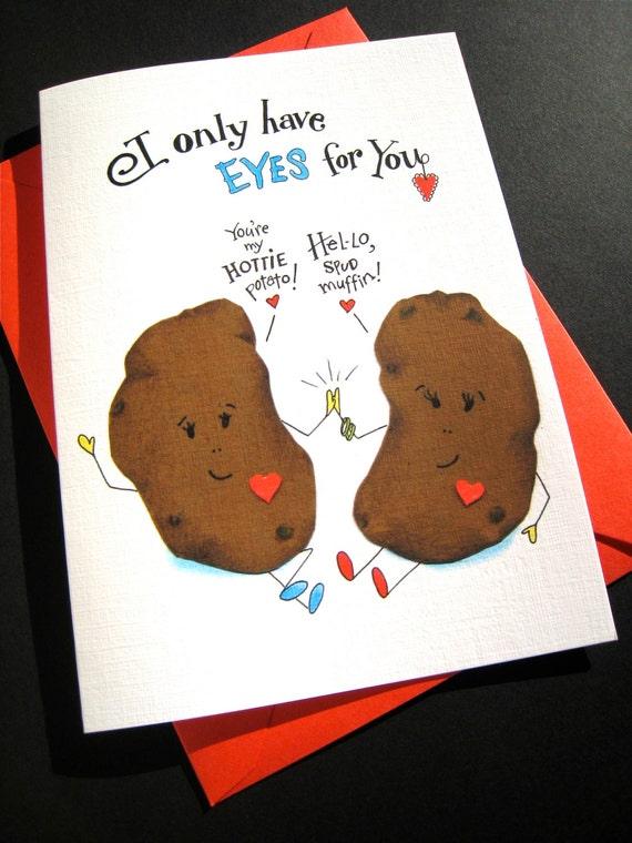 Funny Valentine Card Potato Pun Pun Valentines Day I Etsy