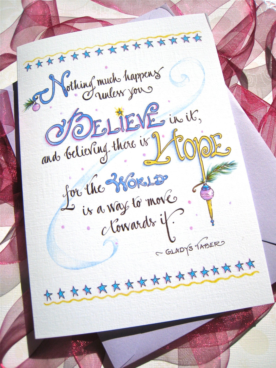 Believe Christmas Cards Inspirational Christmas Cards Etsy