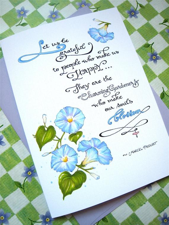 Merci Floral Gratitude Devis Carte Pour Ami Carte De Gloire Du Matin Soyons Reconnaissant