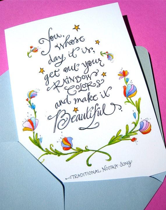 Rainbow Colors Birthday Card Artist