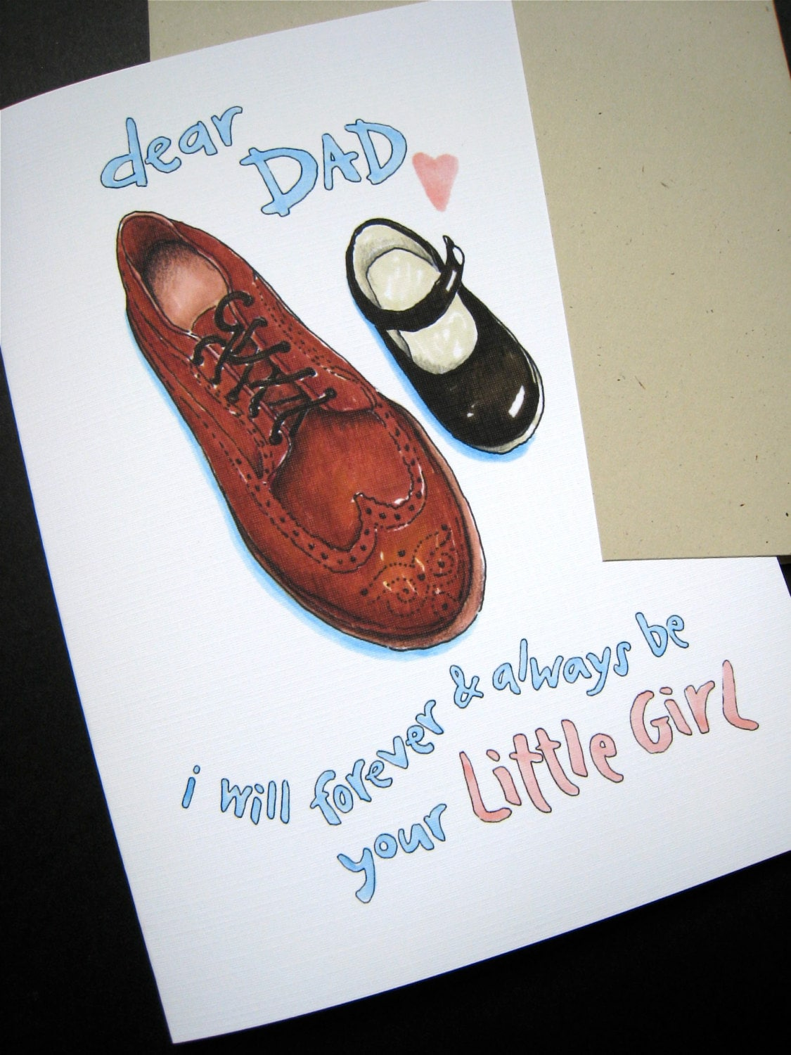 Dad Daughter Card Father Of The Bride Wedding