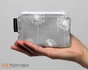 Coin Purse, Zippered Change Pouch
