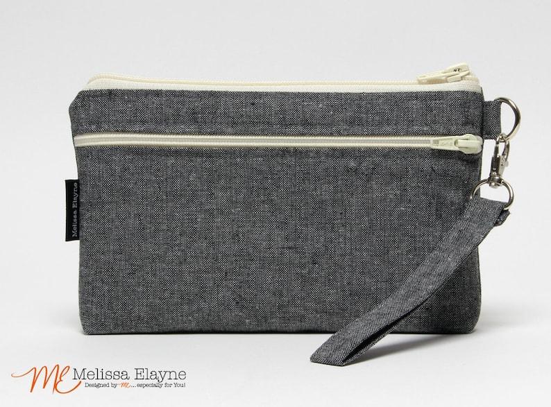 Womens Purse Black Smartphone Wristlet iPhone 7 Plus Bag black white damask