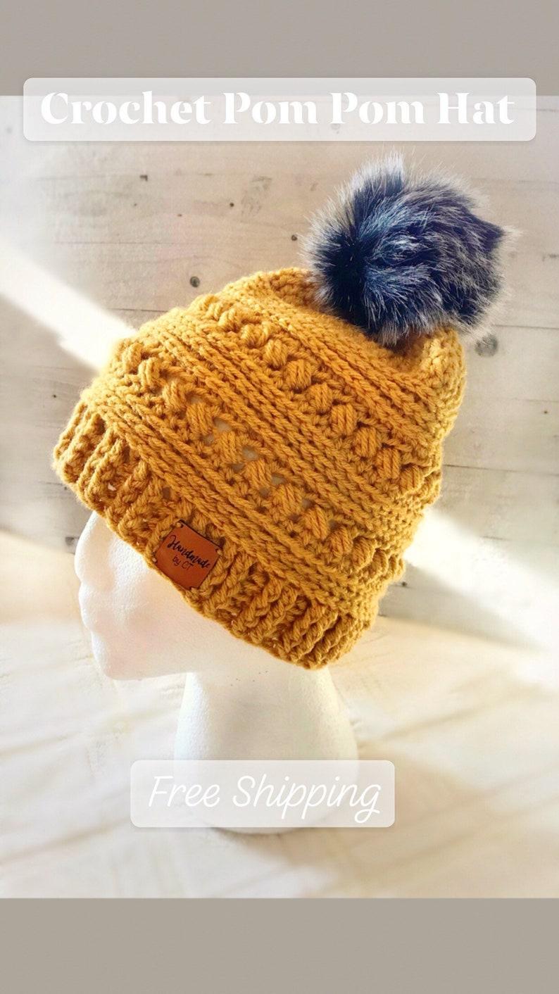 Crochet Women s Pom Pom Hat CC Beanie Inspired Hat  796c8b9e2