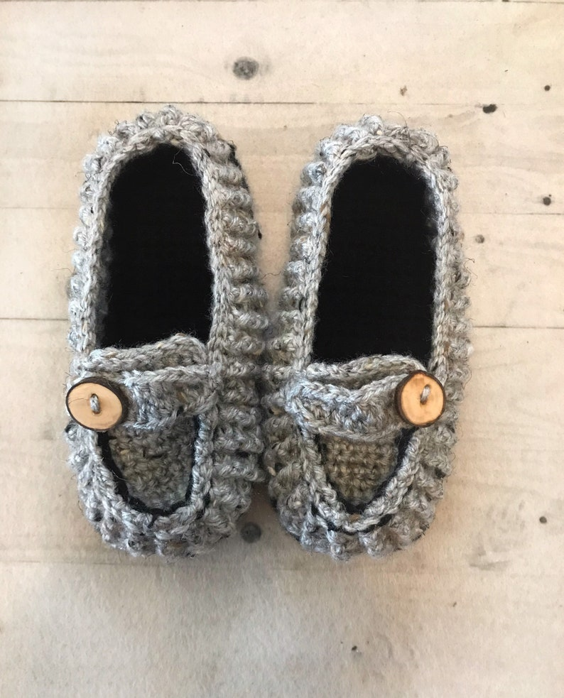 Boys Youth Sizes Crochet Loafers Crochet Boys Slippers Handmade Crochet