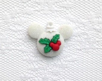 Disney Mickey Mouse Holly Holiday Ornament Lapel Pin