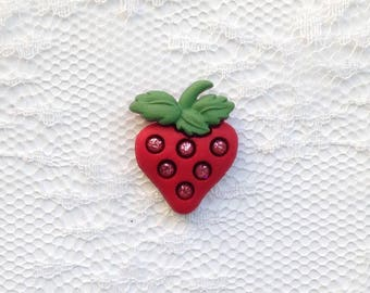 Red Strawberry Lapel Pin