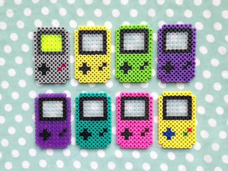Game Boy Inspired Perler Bead Video Game Magnet Choose One