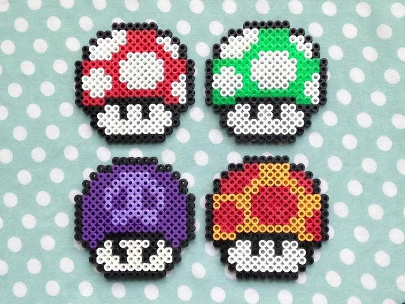 Perler Beads Mario Mushroom