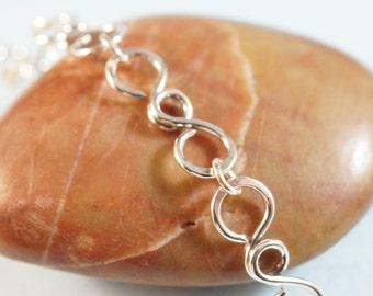 Silver Wire Bracelet