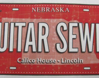 Guitar Sewlo—2018 Row by Row Experience License Plate