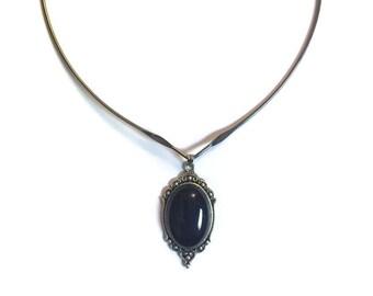 Victorian choker Necklace, gothic choker, wire choker, grunge jewelry, 90's jewelry,