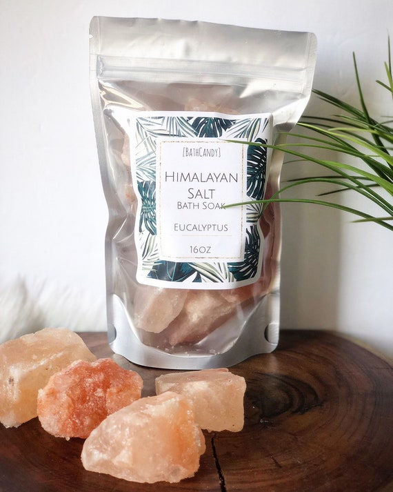 Himalayan salt chunks bath soak 16oz