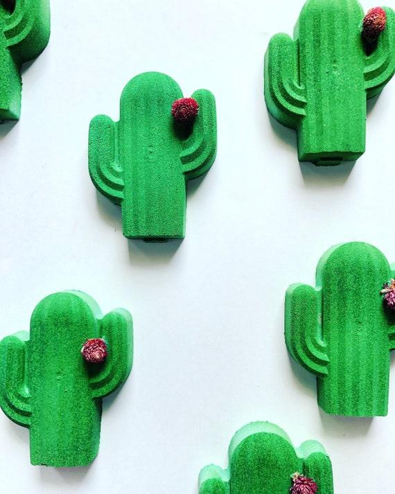 Cute cactus bath bomb