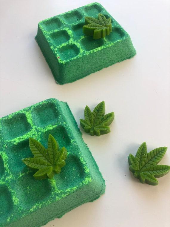 Cannabis waffle bath bomb