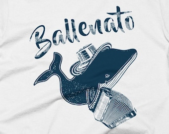 Cool Vintage Looking Ballenato Vallenato T-shirt Printed on American Apparel Men T-shirt. Available for women & in other colors! Colombia