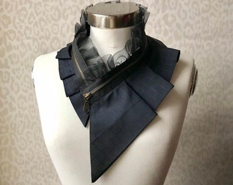 Silk collar necklace, silk scarf necklace, silk collar, women's collar, bib necklace, silk necklace, women's accessories #284