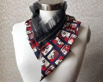 Silk collar necklace, silk scarf necklace, silk collar, women's collar, bib necklace, silk necklace, women's accessories #276