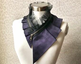 Silk collar necklace, silk scarf necklace, silk collar, women's collar, bib necklace, silk necklace, women's accessories #282