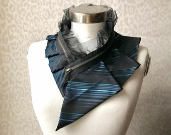 Silk collar necklace, silk scarf necklace, silk collar, women's collar, bib necklace, silk necklace, women's accessories #291