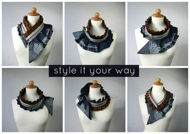 women/'s collar silk collar women/'s accessories #271 silk necklace silk scarf necklace bib necklace Silk collar necklace