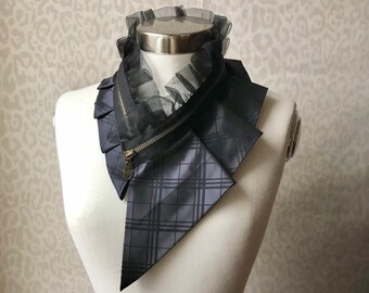 Silk collar necklace, silk scarf necklace, silk collar, women's collar, bib necklace, silk necklace, women's accessories #273