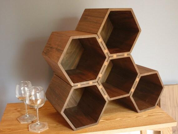 Items Similar To Drona Large Hexagonal Wine Rack In