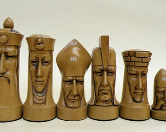 Gothic Heads Medium LATEX CHESS MOULDS/Molds (9)