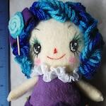 "Handmade Kawaii Felt Raggedy Style Doll 8"""