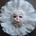 Kawaii Pose Doll Face Lace Wall Decor Plaque