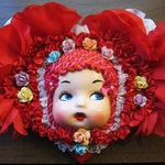 Valentine Heart Doll Face Wall Decor Plaque