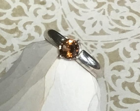 Topaz CZ Ring, Sterling Silver, 925 Silver, Handset Jewelry, Rings, November  Birthstone, Women's Jewelry, Topaz Jewelry, Rings, For Her