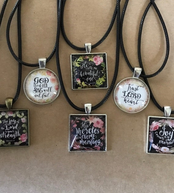 Word Necklace, Scripture Necklace, Witness Jewelry, For Her, Mother's Day, Under 20 Dollars