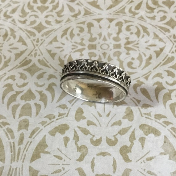 Sterling Silver Crown Ring, 925 Silver, Metalcraft, Metalsmith, Handcrafted, Hand Fordged, Silver Jewelry, Gifts 40 Dollars and Under
