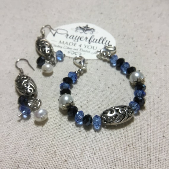 Medical Alert ID Replacement Bracelet, Handmade, Women's Jewelry, Beaded Jewelry, Swaroski Crystal Jewelry, Filigree Jewelry