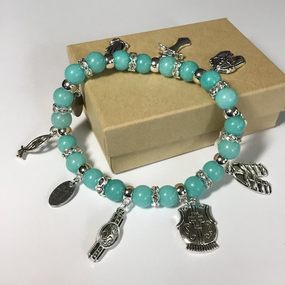 Armor of God Stretch Charm Bracelet, Witness Jewelry, Christian Jewelry, Full Armor of God, Bible Study, Charm Bracelets, Under 40 dollars