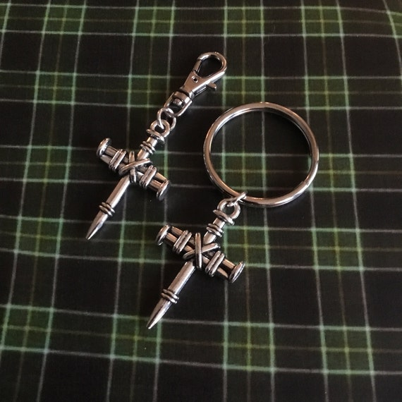 Tree Nails Key Ring/Clip, Christian Accessories, Witness Jewelry, John 3:16, Accessories