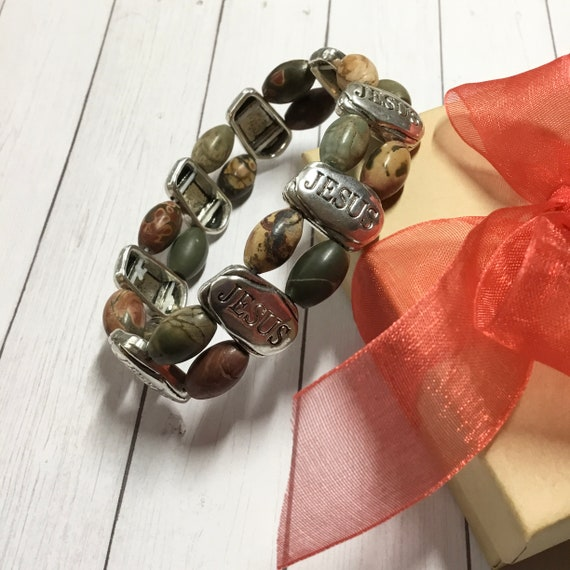 Faith Stretch Bracelet With FREE Matching Earrings