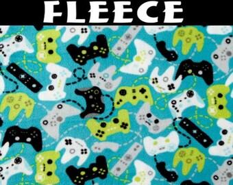 Polar Fleece Gaming Controllers Bali Fleece Fabric by the Yard