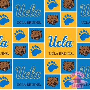 NCAA University of California Los Angeles UCLA Bruins TwillDuck Cloth Fabric Yard