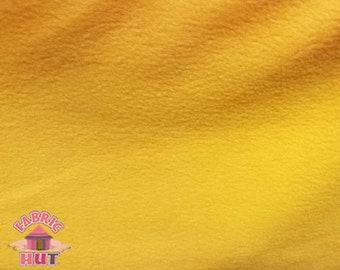 Polar Fleece Solid Gold Polyester Fleece Fabric by the Yard