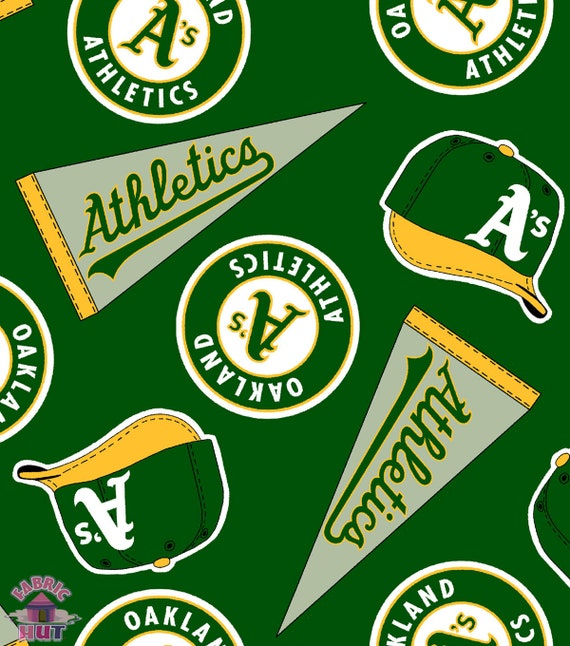 MLB Oakland Athletics A/'s Cotton Fabric 6648 B
