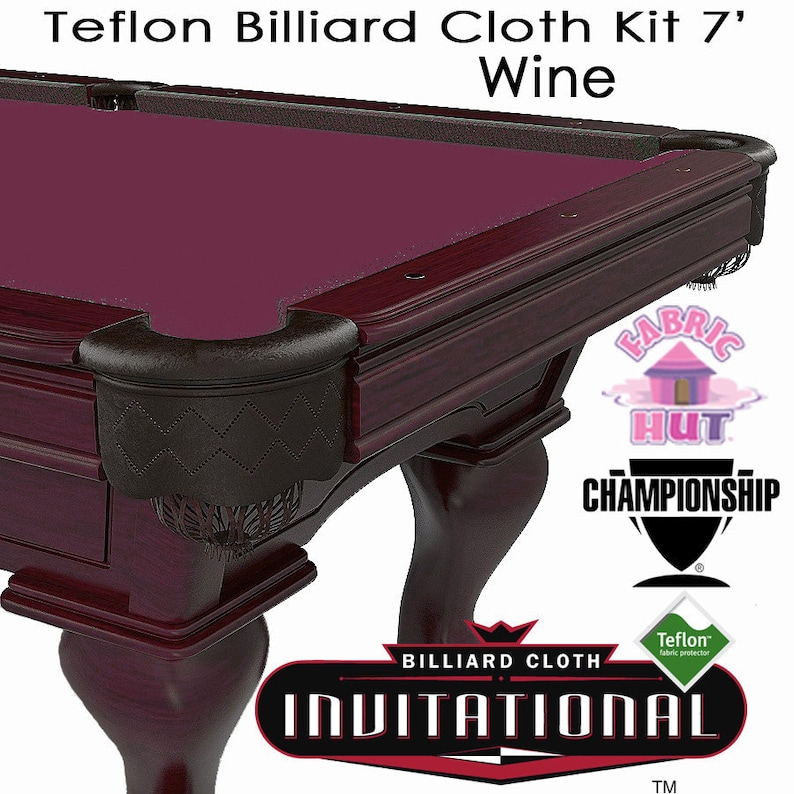foto de Championship Invitational Teflon Woolen Billiard Pool Table | Etsy
