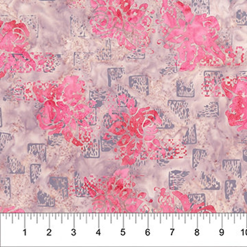 Northcott Patio Poppy Collection PinkGray 8036-21 Cotton Fabric by the Yard
