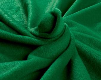 Polar Fleece Solid Kelly Green Fleece Fabric by the Yard