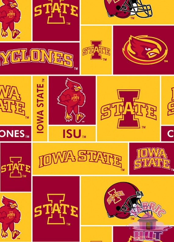 Fabric by the Yard Sykel Enterprises NCAA Iowa State Collegiate Check Multi