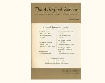 Aylesford Review, Summer 1965, English Carmelite Periodical, Restoration of the Priory, T S Eliot, Mission at Merthyr Tydfil Vintage Book