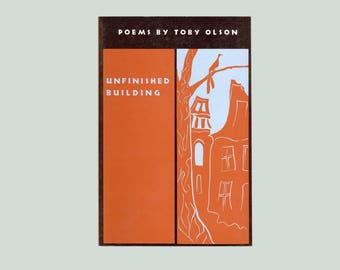 Unfinished Building, Poems by Toby Olson 1993 Coffee House Press First Edition.  Poetry Book Vintage Trade Paperback